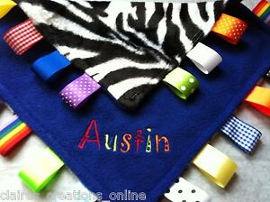 PERSONALISED BABY/TODDLER TAGGY BLANKET/COMFORTER/GIFT  *****MANY OPTIONS*****
