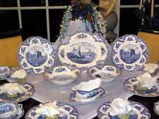 edles Speiseservice Johnson Bros England Old Britain Castles blau 12 Personen