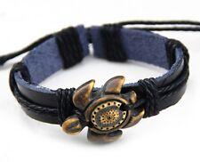 Fashion Sea Turtle Charm Leather Adjustable Bracelet New Tribal Surfer