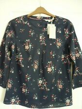 BODEN ISABELLA COTTON TOP, NAVY IVORY DAYDREAM UK 16, EUR 42-44, US 12 NWT W0419