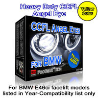 4300K OEM Yellow Heavy Duty BMW CCFL Angel Eyes Halo Rings E46 Ci facelift 106mm