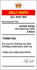 Birthday 21st sign  4' x 7.5'  royal mail insert post box Card Box