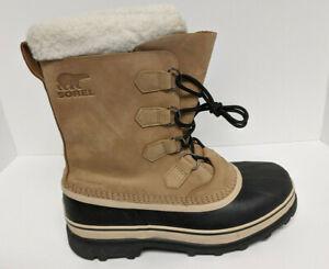 Sorel Caribou Winter Boots, Beige, Men's 10 M
