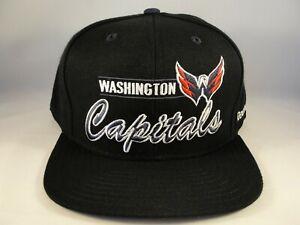 Washington Capitals NHL Reebok Snapback Hat Cap Black