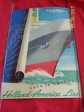 "HOLLAND AMERICA LINE ""En Construction Mise en Service-57-STATENDAM Travel Poster"