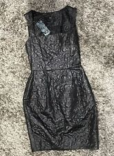 Cue Dress Size 6 Black Wedding Cocktail Party Formal BNWT new With Takes