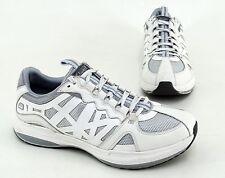 Sneaker Clarks Halbschuhe Schnürer Echtleder Synthetik  Mesh weiß Gr. 6,5 = 39,5
