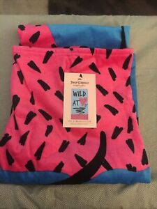 """JUICY COUTURE BEACH BATH TOWEL """"WILD AT HEART"""" TURKISH COTTON 34x64 NEW"""