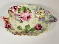 "Vintage Allyn Nelson Collection Floral Leaf Shaped Trinket Dish England 4"""