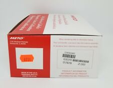 Meto 2200 Labels to suit 8.22 and 6.22 pricing gun,Fluro Red, + ink roller
