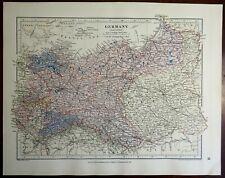 German Empire Eastern Part Prussia Posen Poland Saxony Silesia 1885 Stanford map