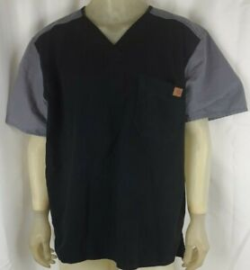 Carhartt Men's Color Black And Gray Utility Scrub Top Size XL C14108