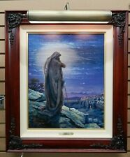 "Thomas Kinkade - Prayer for Peace 20x16 LE S/N Canvas With Hobby Hill Co 7"" Lamp"