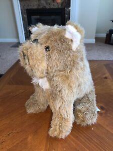 "Vintage Mack Trucks Bulldog Dog BJ Toy Co Plush Stuffed Animal Tan Brown 12"""