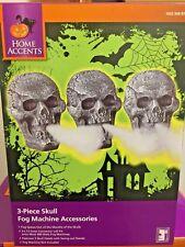 8.7 in. Halloween Party Decoration Spooky Skull Trio Fog Machine Accessories