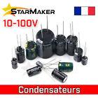 Condensateur chimique électrolytique 0.1uF à 4700uF - 10V 16V 25V 35V 50V 100V