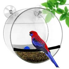 Acrylic Crystal Clear Window Bird Feeder with 2 Powerful Suction Cups 15*8cm