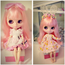 12'' Neo Blythe Nude Doll From Factory For Blythe Custom Jointed Body+Pink Hair