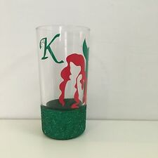 Personalised Diamante Glitter Mermaid ARIEL Glass Available In Wine Pint Glass