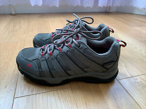 TRESPASS Leka - Ladies / Womens Hiking Shoes Grey - Waterproof Walking - Size 6