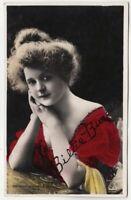BILLIE BURKE - Edwardian Actress - 1907 used real photo postcard
