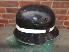 FIRE POLICE HELMET Feuerschutzpolizei Stahlhelm M35/40, ohne Abzeichen