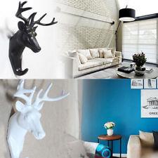 Animal Deer Stags Head Hanger Rack Hook Wall Mount Home Living Room ZY