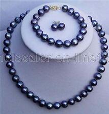 Fashion New 7-8mm Natural Akoya Freshwater Pearl Necklace Bracelet Earrings Set