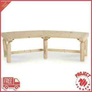 Log Fire Pit Bench Durable Made From Solid Chinese Fir Wood Assembly Required