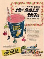 1956 DAIRY QUEEN - Retro Dary Queen Restaurant - Kid Eating Ice Cream VINTAGE AD