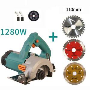 220V Electric Portable Wood Stone Tile Cutter Concrete Slotting Machine Saw