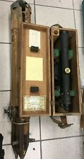 Old Berger Engineering Instruments Surveying Transit Level Antique w Case Tripod