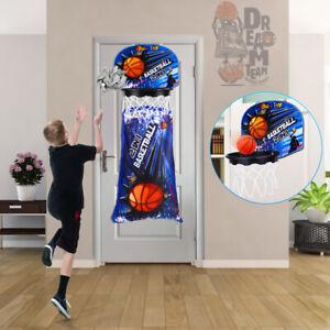 Over Door Basketball Hoop Mini Indoor Ball Set Net Board Toy Kids Backboard Game