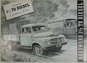 Borgward 1,5 to Diesel,  50er J., 6 Seiten