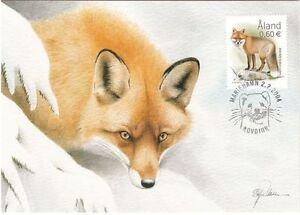 Red Fox Endangered Animal Winter Åland Island Finland Mint Maxi FDC 2004