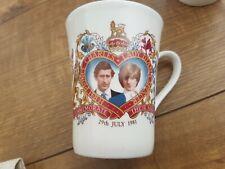 Prince Charles and Princess Diana Wedding Mugs Commemorative Royal
