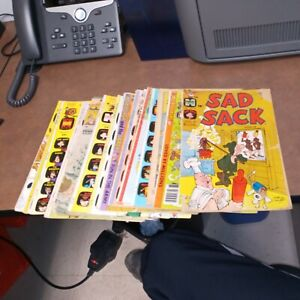 Sad Sack And The Sarge 18 Issue Harvey Comics Lot Run Set Collection bronze age
