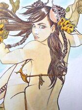 Sillage Wake Art Original Erotic Pinup Fantasy Female Sexy Comic NAVIS Tribute