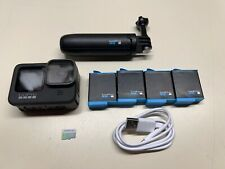 GOPRO HERO 9 BLACK ACTION CAMERA 5K 4K 20MP W/ 4 BATTERIES & CHARGER + SD CARD