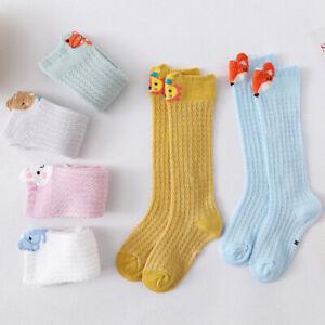 Summer Baby Girls Boys Socks Cute Animal Knee Highs Socks Breathable Long Socks