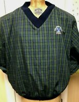 Royal Troon Golf Club 2XL plaid pullover Made Scotland, embroidered logo V-neck