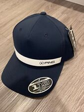 NWT Brand New Ping Golf KP Navy White Structured Golf Hat Cap