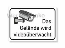 Das Gelände wird videoüberwacht - Schild 21 X 15 cm