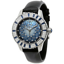 Dior Christal Blue  Dial Diamond and Sapphire Ladies Watch 113510A002