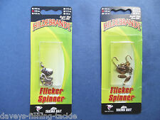 Hildebrandt Fly Flicker Spinner Spoons Game Fishing Trout Rod Line Lures Pike 1pkt of Silver