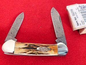 Case XX USA 2009 mint in box STAG DAMASCUS 52131 DAM canoe knife