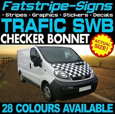 RENAULT TRAFIC SWB CHECKER BONNET GRAPHICS STICKERS STRIPES CAMPER VAN MOTORHOME