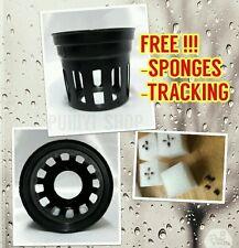 100X Heavy Duty Mesh Net Pot Cup + Free!!!100 Sponges Hydroponic Grow Plant