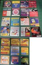 Lot 25 CD kit connexion Internet Netscape Olitec AOL Tiscali 9online Wanadoo