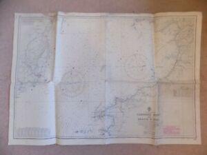 1969 Admiralty Nautical Maritime Chart Carnsore Point to Braich y Pwll Irish Sea